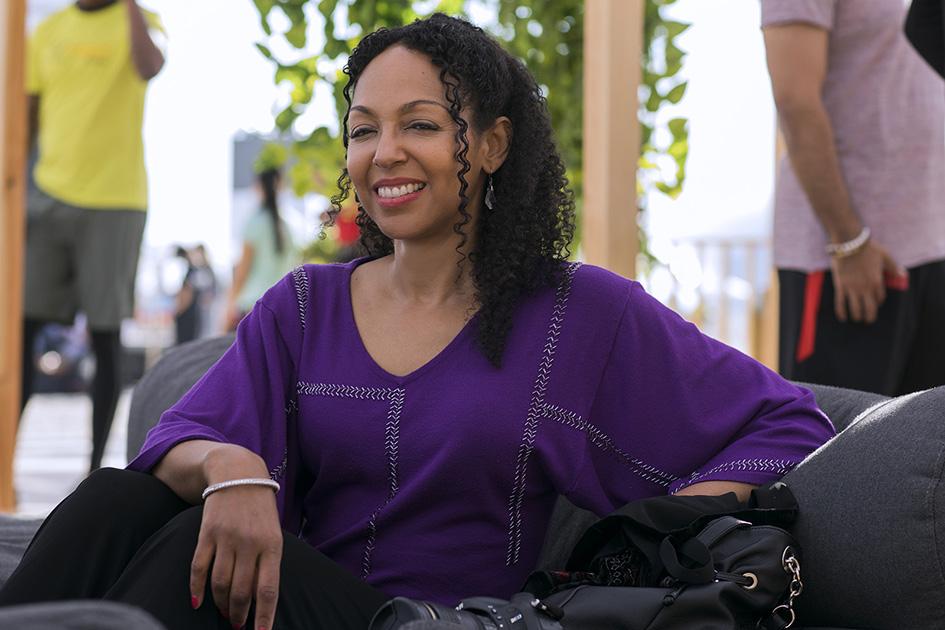 Teresa Kay-Aba Kennedy at the XYoga Dubai Festival on Kite Beach - March 15, 2018