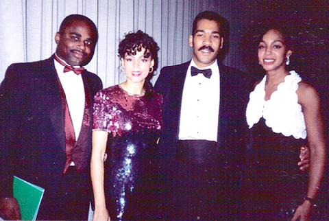 Kevin Taylor, Sheila Kennedy, Dexter King and Teresa Kay-Aba Kennedy in the 1990s