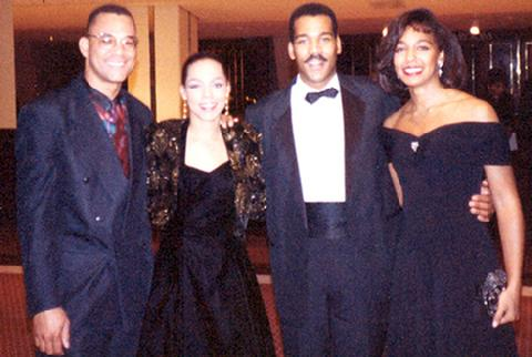 Sheila Kennedy, Dexter King and Teresa Kay-Aba Kennedy at the Congressional Black Caucus in the 1990s