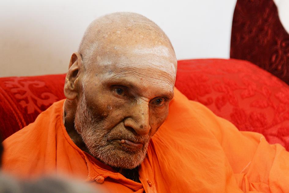 110-year-old Shivakumara Swami in Karnataka, India - June 23, 2017