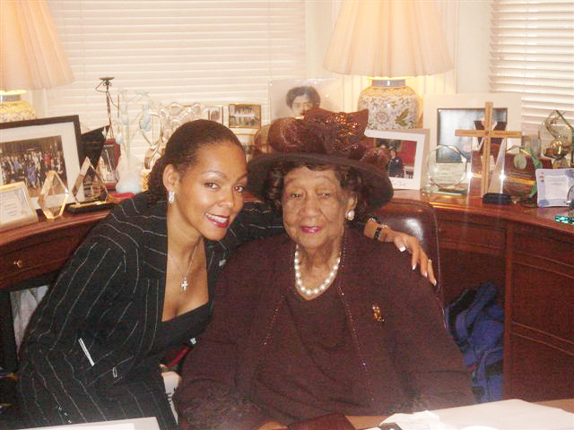 Sheila Kennedy Bryant and Dr. Dorothy Height