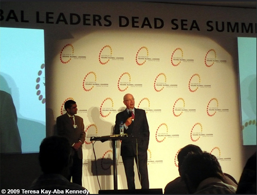 Klaus Schwab at the Young Global Leaders Dead Sea Summit in conjunction with the World Economic Forum on the Middle East in Jordan - May 2009