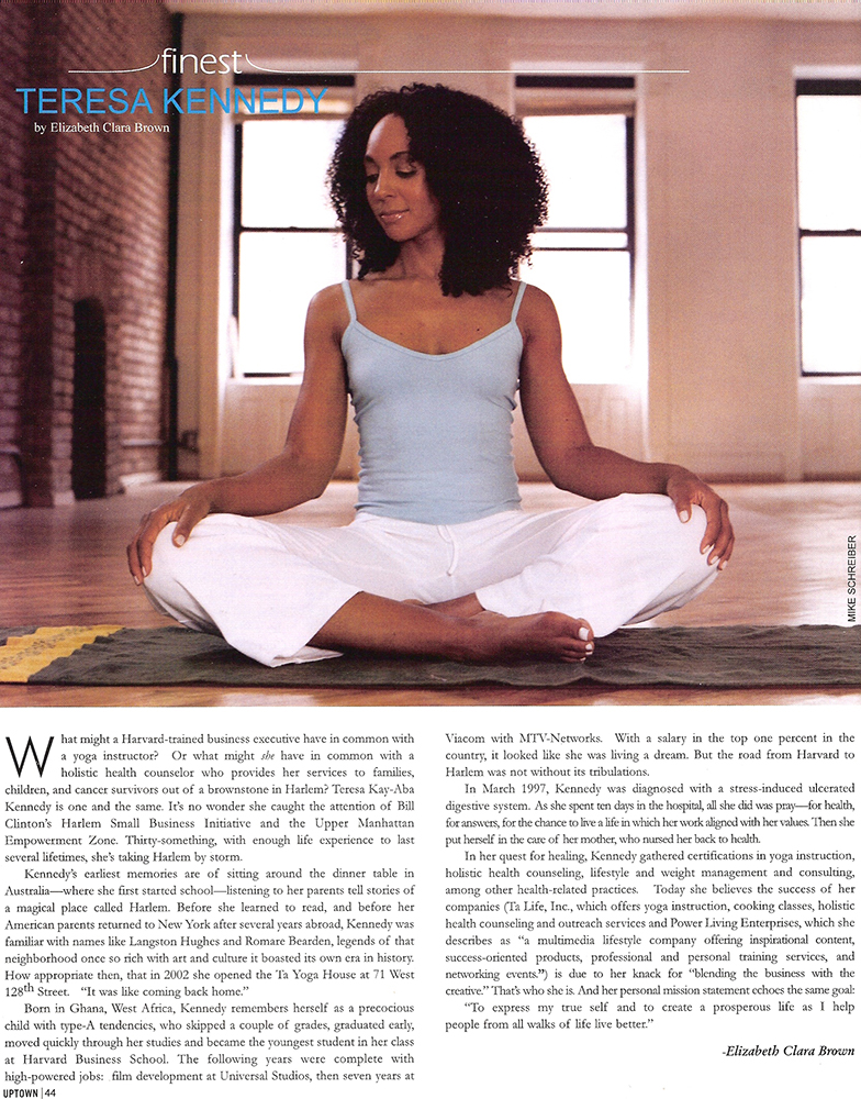 Teresa Kay-Aba Kennedy featured in Uptown Magazine