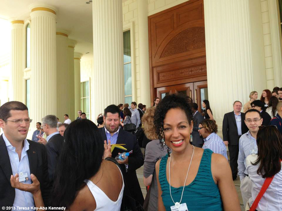Teresa Kay-Aba Kennedy at the Presidential Palace in Nay Pyi Taw, Myanmar as part of the Young Global Leader Summit in conjunction with the World Economic Forum on East Asia - June 2013