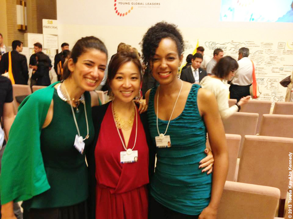 Lama Hourani, Peggy Liu and Teresa Kay-Aba Kennedy at the Young Global Leader Summit as part of the World Economic Forum in Myanmar - June 2013