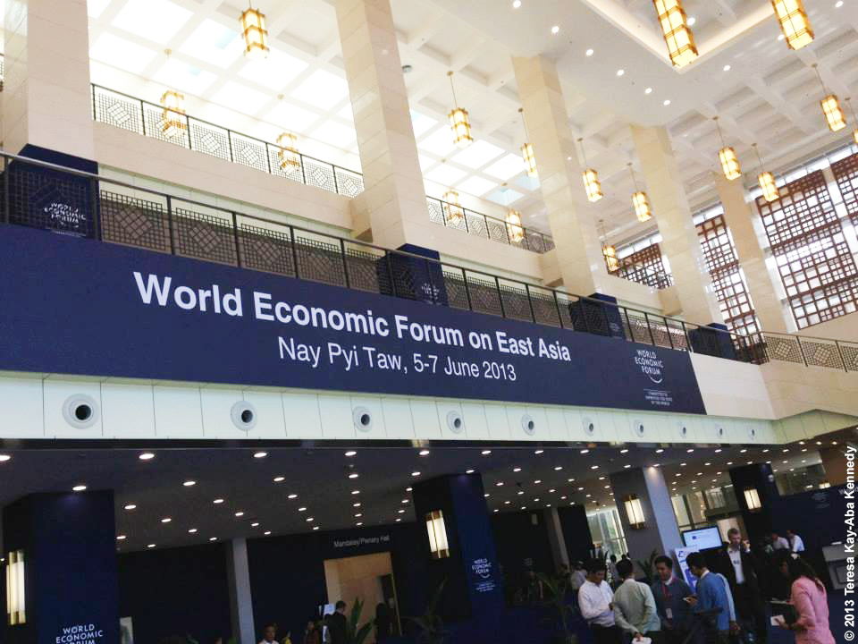 The World Economic Forum on East Asia in Nay Pyi Taw, Myanmar - June 2013