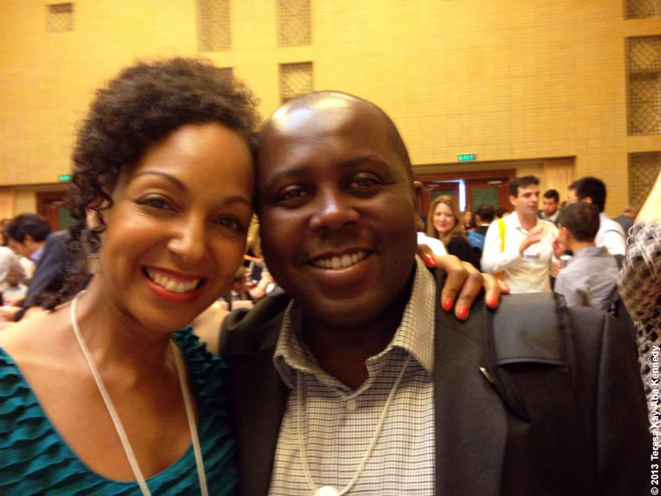 Teresa Kay-Aba Kennedy and Mugo Kibati of Kenya at Young Global Leader Summit in conjunction with the World Economic Forum on East Asia in Myanmar - June 2013