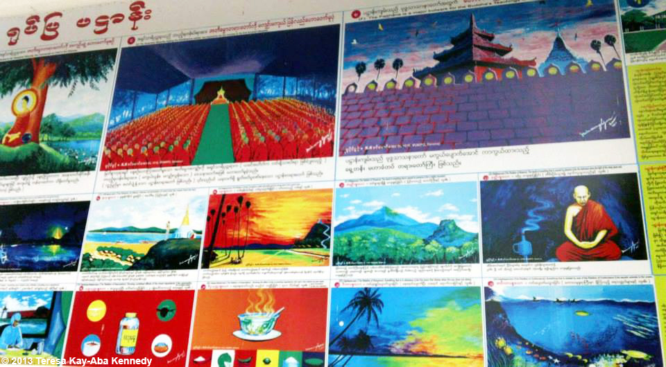 Mural as part of Young Global Leader Summit and World Economic Forum in Myanmar - June 2013
