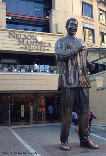 Nelson Mandela Square in Johannesburg, South Africa - November 2013