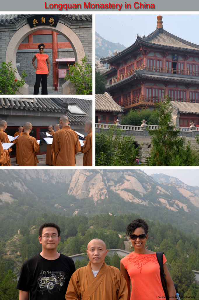 Teresa Kay-Aba Kennedy at Longquan Monastery as part of the Young Global Leaders Summit in Beijing, China - September 2014