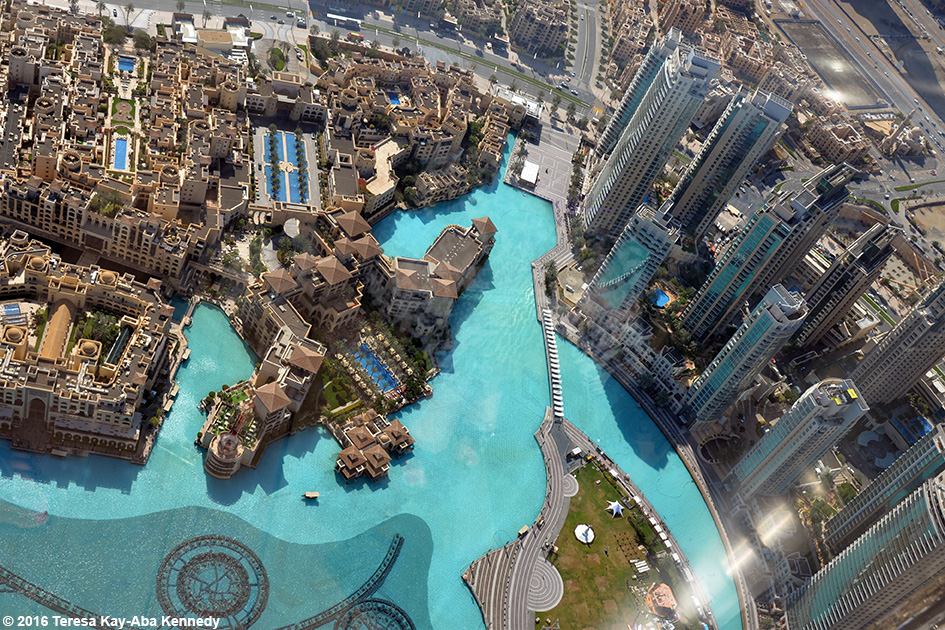 View from Burj Khalifa in Dubai, United Arab Emirates - February 18, 2016