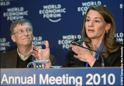 Bill and Melinda Gates at the World Economic Forum Annual Meeting in Davos, Switzerland - January 2010