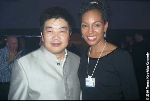 Jun Feng and Teresa Kay-Aba Kennedy at the World Economic Forum Meeting in Davos, Switzerland - January 2010