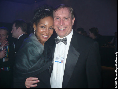 Teresa Kay-Aba Kennedy and John Strackhouse at the World Economic Forum Annual Meeting in Davos, Switzerland - January 2010