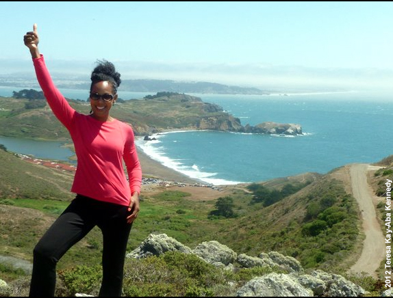 Teresa Kay-Aba Kennedy hiking in San Francisco, CA as part of the World Economic Forum Young Global Leaders Silicon Valley Summit - July 2012