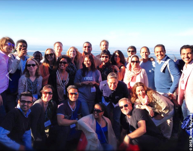 Teresa Kay-Aba Kennedy with fellow Young Global Leaders at the Thomas Fogarty Winery in Santa Cruz, CA as part of the World Economic Forum YGL Silicon Valley Summit - July 2012