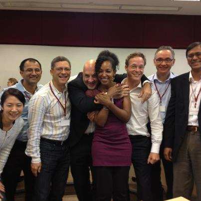 Teresa Kay-Aba Kennedy with fellow World Economic Forum Young Global Leaders in Singapore - October 2012