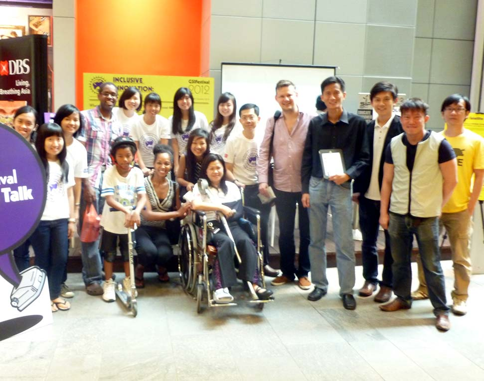 Teresa Kay-Aba Kennedy, Keith Carter and family with Member of Parliament Penny Low and her Social Innovation Park team in Singapore - October 2012
