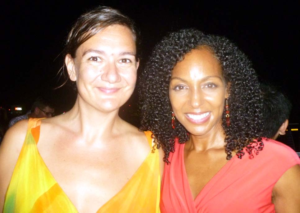 Teresa Kay-Aba Kennedy with fellow World Economic Forum Young Global Leader in Singapore - October 2012